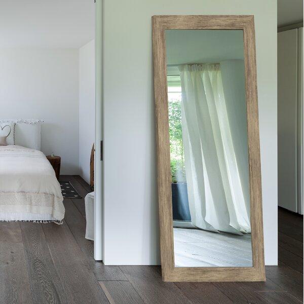 Areli Weathered Sand Barnwood Wall Mirror by Mistana