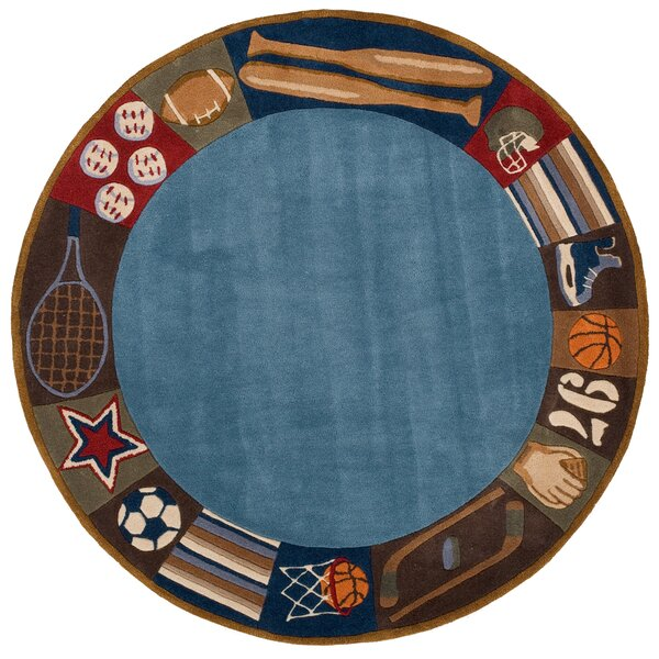 Johnnie Denim Hand-Tufted Blue Kids Rug by Viv + Rae