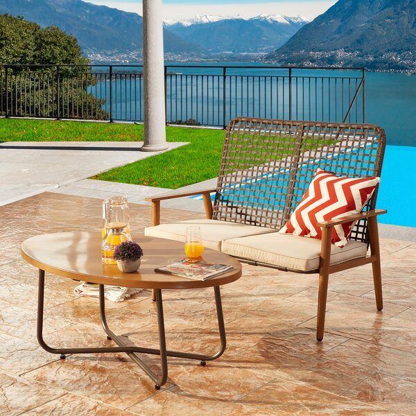 Harva 2 Piece Sofa Seating Group with Cushions by Bayou Breeze
