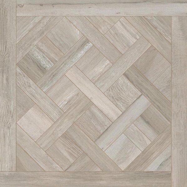 Travel Cassettone Décor 24 x 24 Porcelain Wood Look Tile in East Gray by Travis Tile Sales