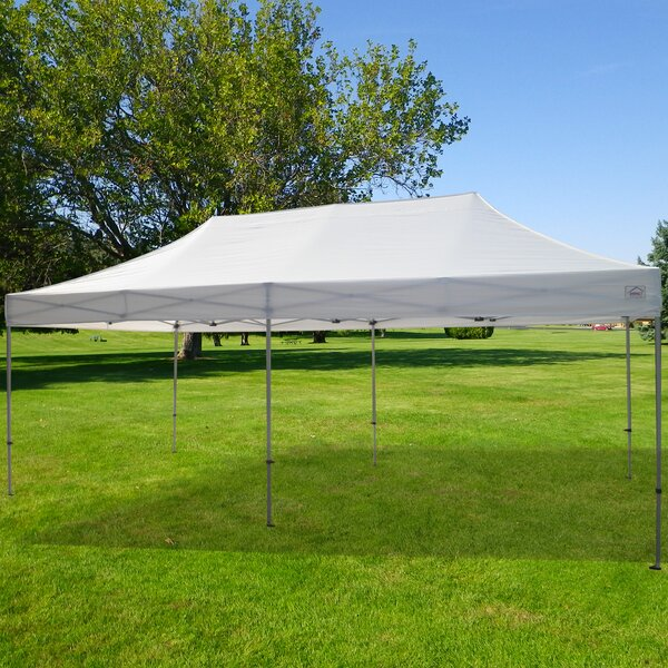 Garden 20 Ft. W x 10 Ft. D Steel Pop-Up Party Tent by Impact Instant Canopy