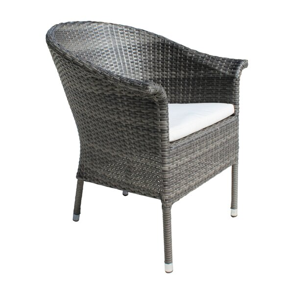 Saliba Patio Dining Chair with Cushion by Latitude Run Latitude Run
