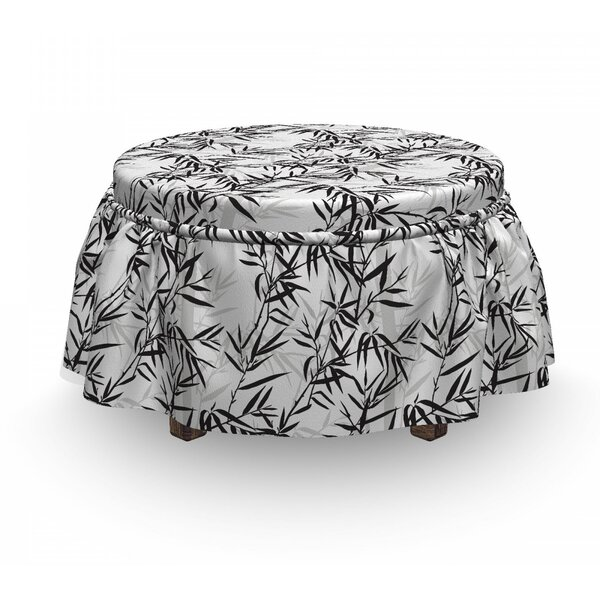 Leaves Sticks Oriental Ottoman Slipcover (Set Of 2) By East Urban Home