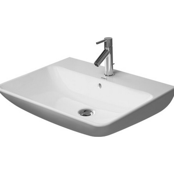 Starck Ceramic 26 Wall Mount Bathroom Sink with Overflow by Duravit