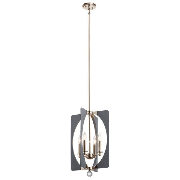 Agostini 4-Light Candle Style Rectangle / Square Chandelier by Ivy Bronx Ivy Bronx