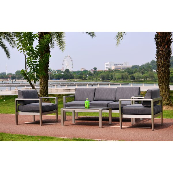 Chip 4 Piece Sofa Set with Cushions by Orren Ellis