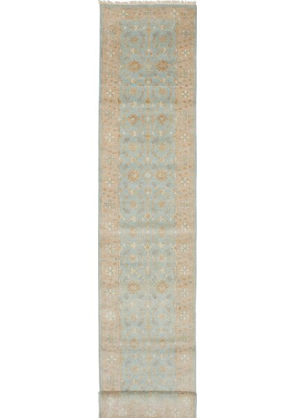 One-of-a-Kind Doggett Hand-Knotted Beige/Blue Area Rug by Isabelline