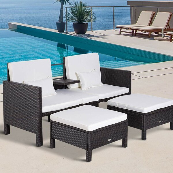 Kayson Patio Loveseat with Cushions by Brayden Studio