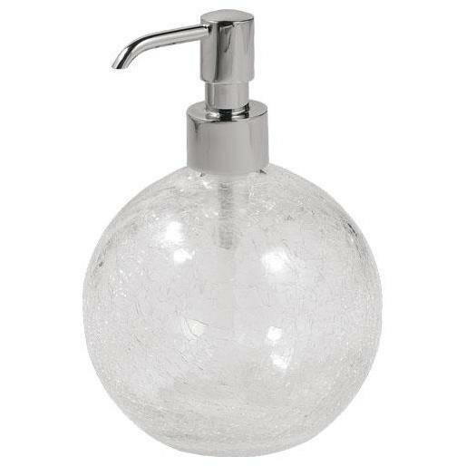Petunia Crackled Glass Standing Ball Soap & Lotion Dispenser by Rosdorf Park