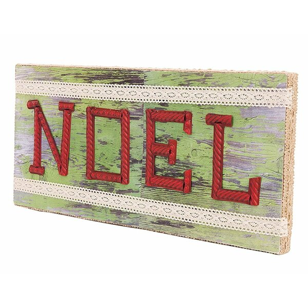 Wooden Noel Christmas Wall Décor by Glitzhome