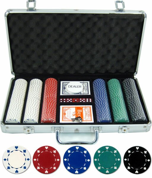 300 Piece Suited Poker Chip by JP Commerce
