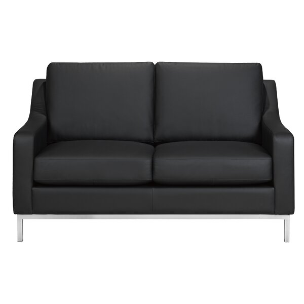 High Quality Kase Leather Loveseat by Rosdorf Park by Rosdorf Park