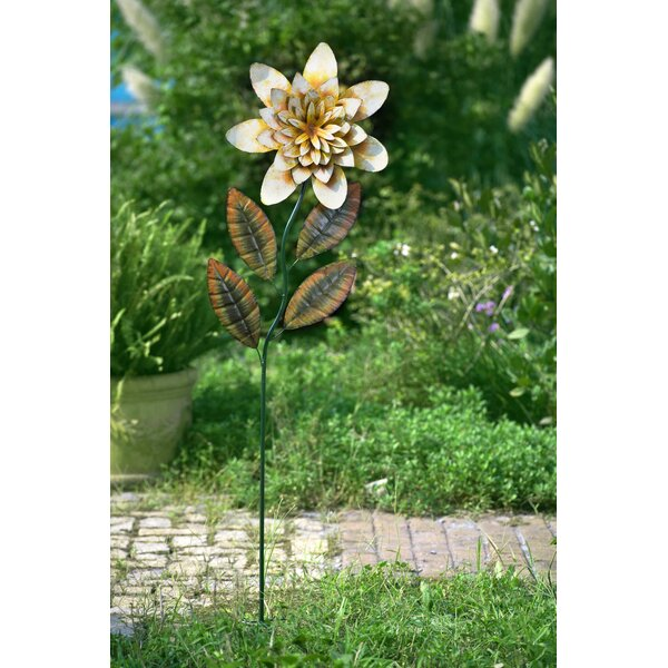 Large Yellow Flower Garden Stake by Sunjoy