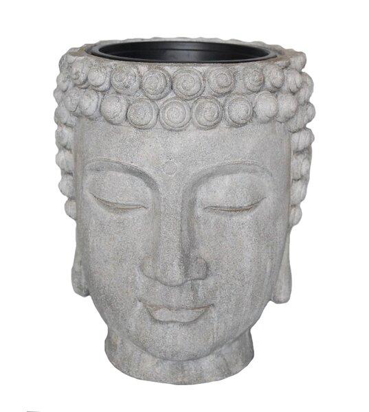 Decorative Buddha Head Flower Resin Statue Planter by Sagebrook Home