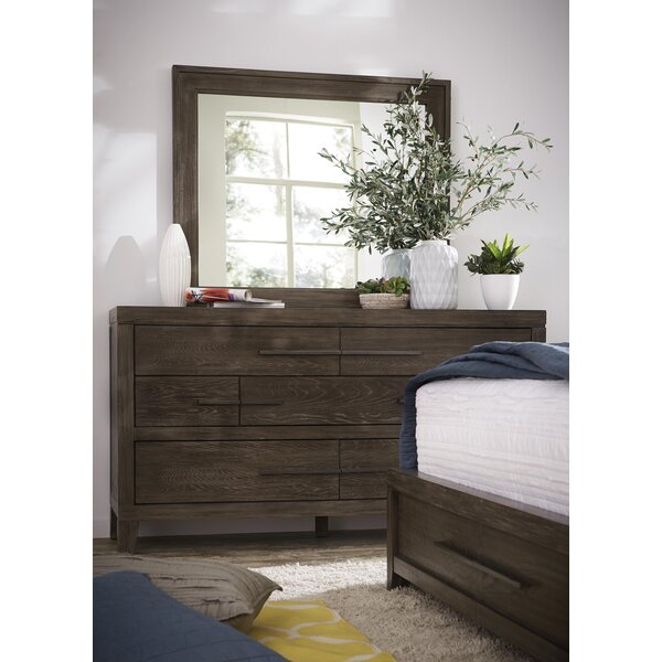 Dontae 7 Drawer Double Dresser with Mirror by Greyleigh