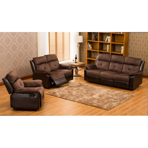Tavistock Reclining 3 Piece Living Room Set by Red Barrel Studio