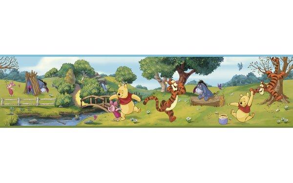 Walt Disney Kids II Swinging Pooh 9 Border Wallpap