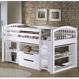 Abigail Twin Loft Bed with Drawers and Shelves byZoomie Kids
