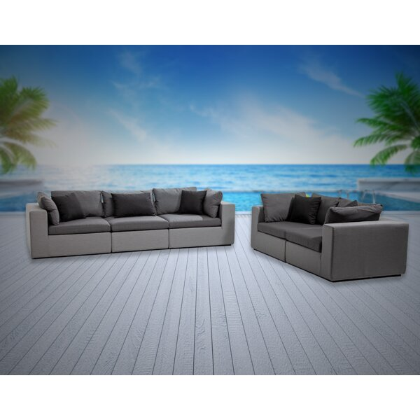 Malani 5 Piece Sunbrella Sofa Seating Group with Cushions by Brayden Studio