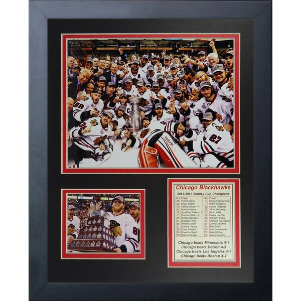 2013 Chicago Blackhawks Champions Celebration Framed Photographic Print by Legends Never Die