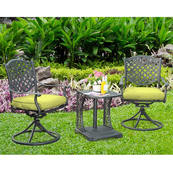 3 Piece Bistro Set with Cushions by Sunjoy