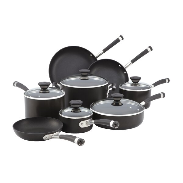 Acclaim Hard Anodized 13 Piece Cookware Set by Circulon
