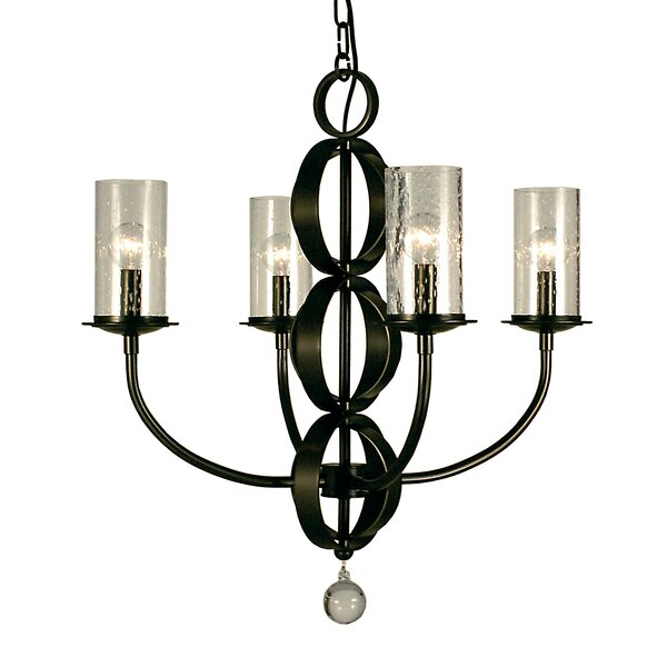 Compass 4-Light Shaded Chandelier by Framburg