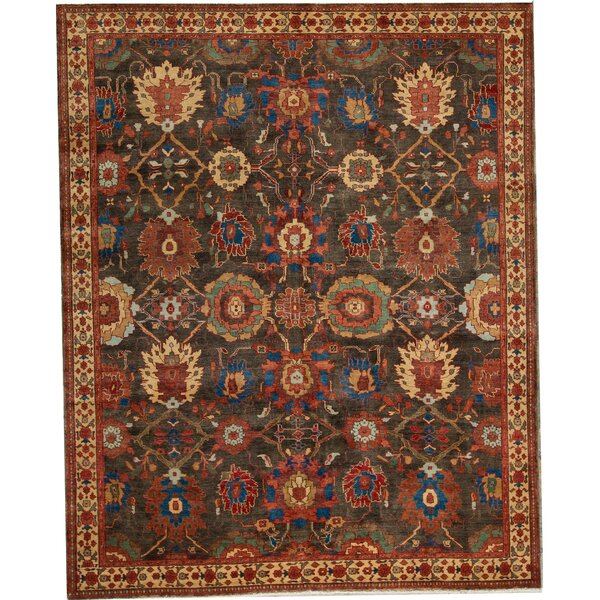 Hand-Knotted Wool Brown/Gold Rug