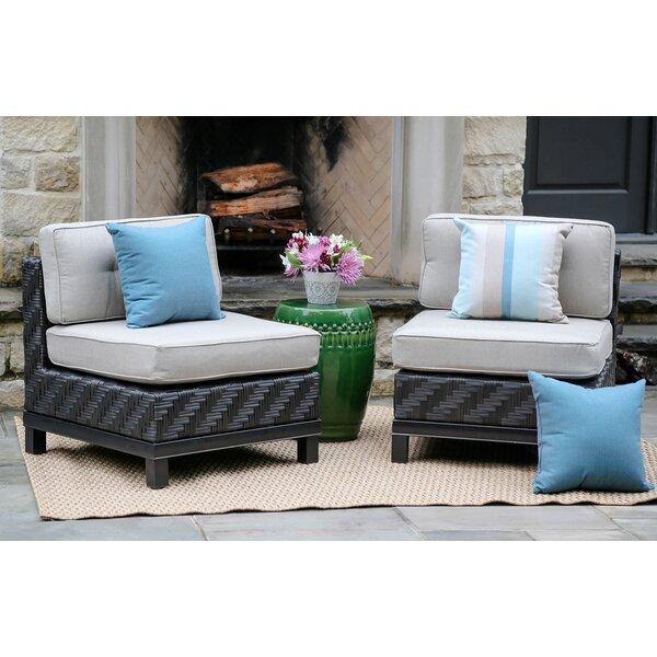 Yara Patio Chair with Sunbrella Cushions (Set of 2) by Mistana