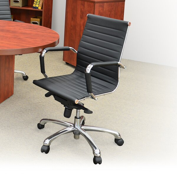 Solace Mid-Back Faux Leather Desk Chair by Regency