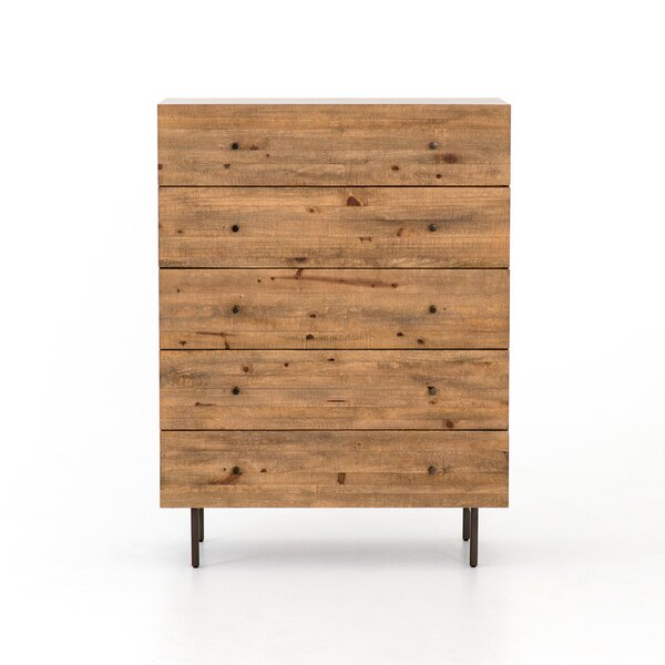 Sawicki 5 Drawer Chest by Union Rustic