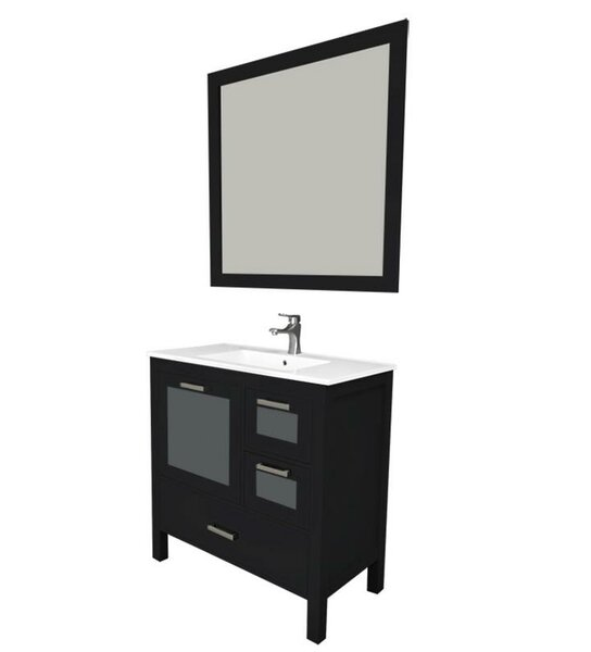 Andre 36 Single Bathroom Vanity Set with Mirror by Longshore Tides
