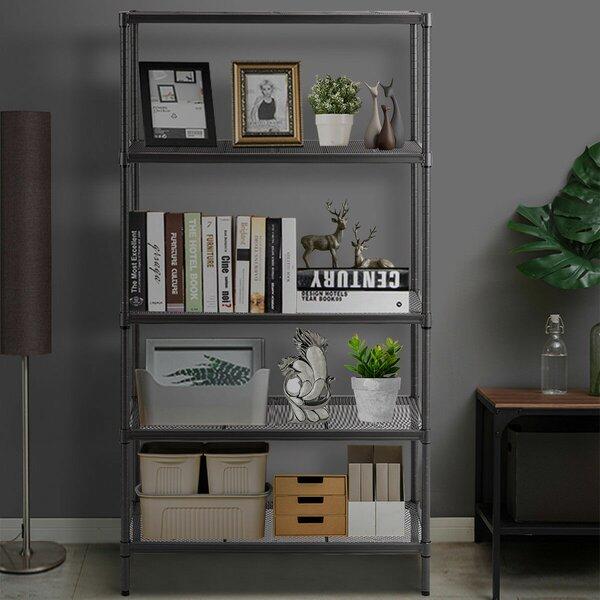 Storage Shelf Rack Steel Mesh Organization Etagere Bookcase By WFX Utility