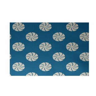 Decorative Holiday Geometric Print Turquoise Indoor/Outdoor Area Rug By The Holiday Aisle