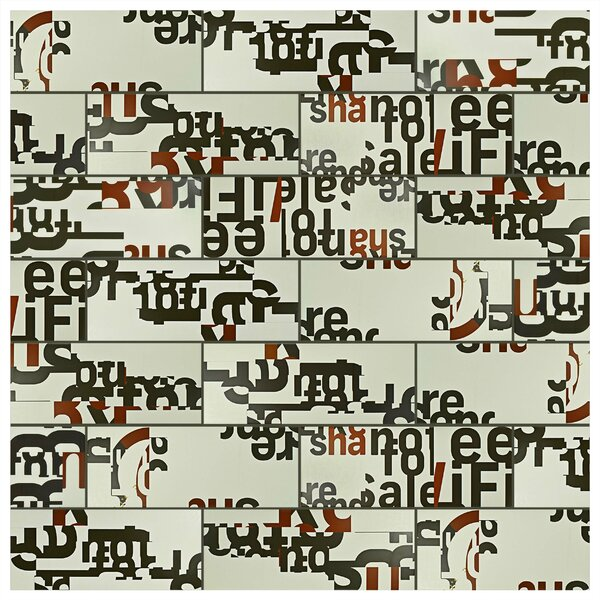 Graphique 6 x 15.75 Ceramic Field Tile in Gray by EliteTile
