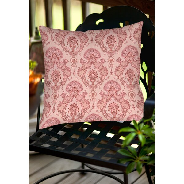 Damask Pattern Indoor/Outdoor Throw Pillow by Manual Woodworkers & Weavers