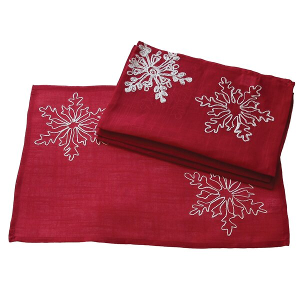 Christmas Embroidered with Snowflakes Placemat (Set of 4) by Xia Home Fashions