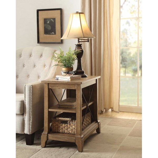 Hixon Wooden End Table with Storage by August Grove