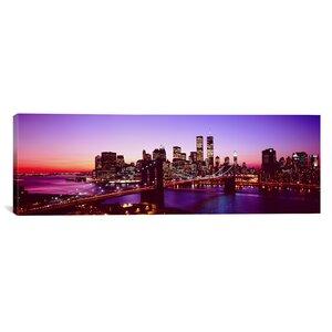'New York City, Brooklyn Bridge, Twilight' Photographic Print on Canvas by East Urban Home
