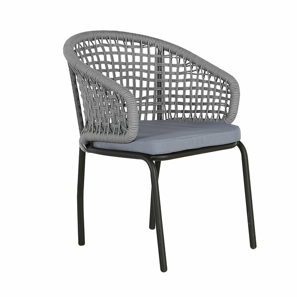 Sandidge Patio Dining Chair with Cushion (Set of 2) by Bungalow Rose