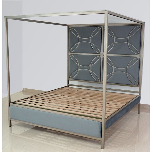 Dreiling Upholstered Canopy Bed by Everly Quinn