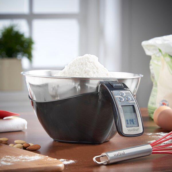 Bowl Electronic Digital Kitchen Food Scale by VonShef