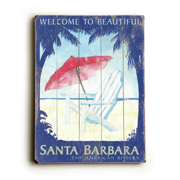 Welcome to Beautiful Santa Barbara Vintage Advertisement by Artehouse LLC