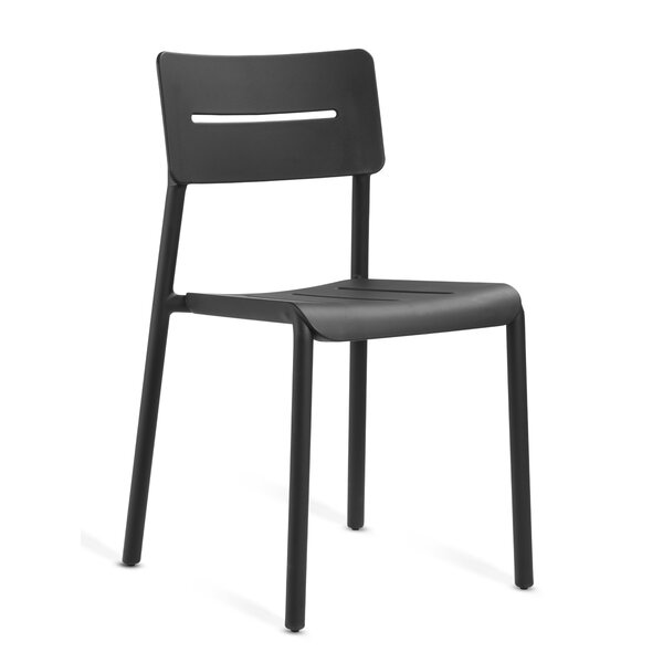 Alfortville Commercial Stacking Patio Dining Chair by Wrought Studio