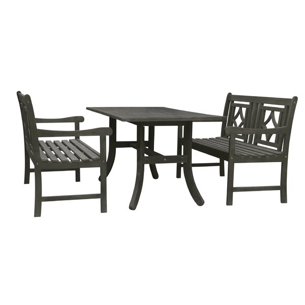 Shelbie 3 Piece Patio Dining Set by Sol 72 Outdoor