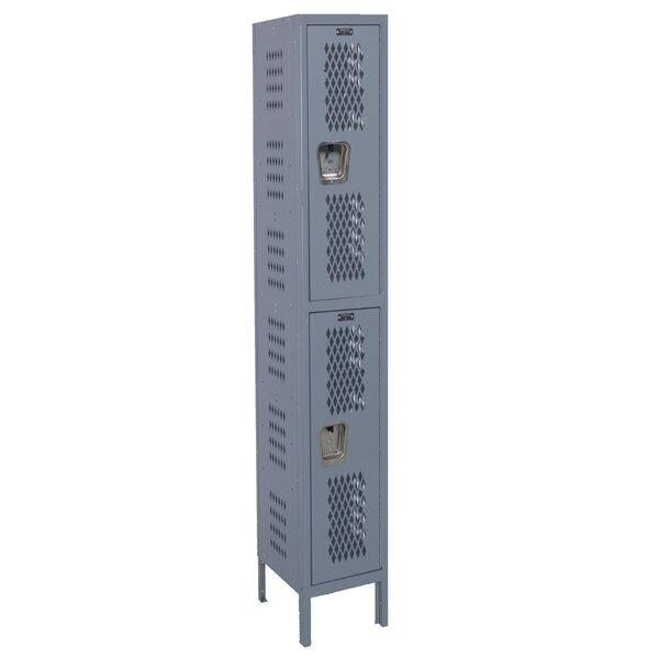 Heavy Duty 2 Tier 1 Wide School Locker by Hallowel