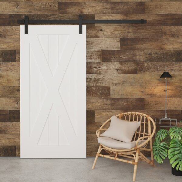 X-Panel Solid Wood Interior Barn Door by Urban Woodcraft