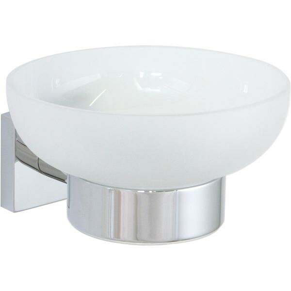 Soriano Wall Mounted Frosted Glass Soap Dish by Orren Ellis
