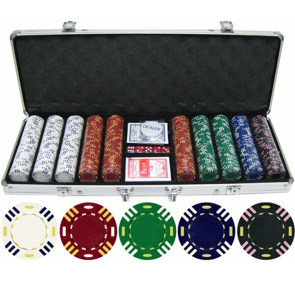 500 Piece Triple Striped Clay Poker Chip by JP Commerce