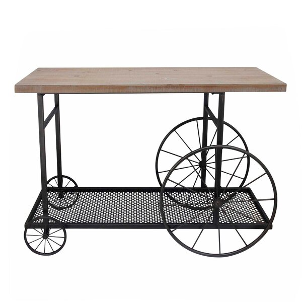 Fisk Kitchen Cart Solid Wood by Gracie Oaks